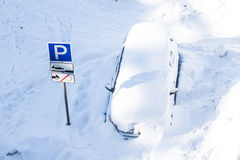 śnieg samochodowy Zdjęcia Royalty Free
