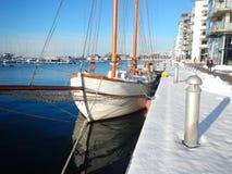 Śnieg Scenary w Szwecja I zima zdjęcie royalty free
