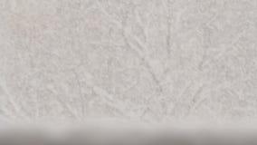 Śnieg Spada na poręczu i drzewach zbiory