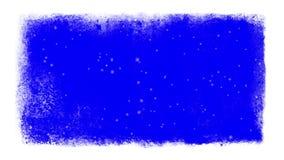 Śnieg Wśrodku Zamarzniętej ramy Z Chroma kluczem ilustracja wektor