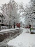 Śnieg w Augsburskim obrazy royalty free