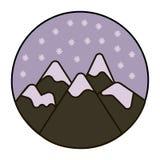 Śnieg w góry ikonie ilustracja wektor