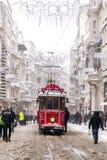 Śnieg w Istanbuł Fotografia Royalty Free