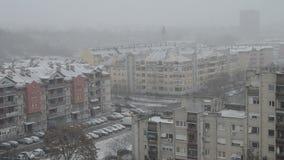 Śnieg w mieście zdjęcie wideo