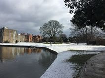Śnieg w wczesnym Marzec 2016 zdjęcie stock