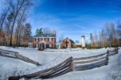 Śnieg wokoło billy grahamowej biblioteki obraz royalty free
