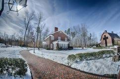 Śnieg wokoło billy grahamowej biblioteki fotografia stock