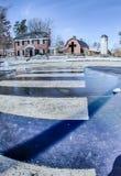 Śnieg wokoło billy grahamowej biblioteki fotografia royalty free