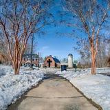 Śnieg wokoło billy grahamowej biblioteki zdjęcie royalty free