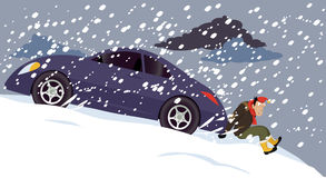 śnieg wtykający ilustracja wektor