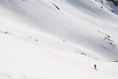 śnieg wycieczkowicza Zdjęcia Stock