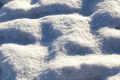 Śnieg z śladami samochód Zdjęcia Stock