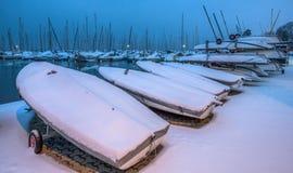 Śnieg Zakrywać łodzie III Zdjęcia Stock