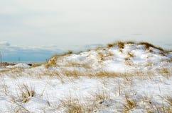 Śnieg zakrywać diuny zdjęcia stock