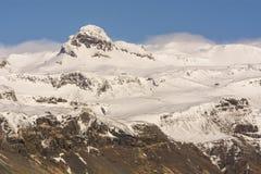 Śnieg zakrywał góry w Snaefellsnes parku narodowym, Iceland Zdjęcia Royalty Free