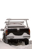 śnieg zakrywająca ciężarówka Obrazy Stock