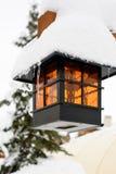 Śnieg Zakrywająca lampa Fotografia Stock