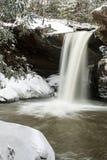 Śnieg Zakrywająca siklawa Appalachian góry - Kentucky - Płaski liźnięcie Spada - obrazy royalty free