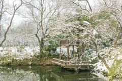 Śnieg zakrywający pawilon Fotografia Stock
