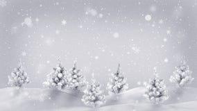 Śniegi zakrywający drzew boże narodzenia ilustracyjni ilustracji