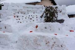 Śniegu bar dzień zdjęcia royalty free