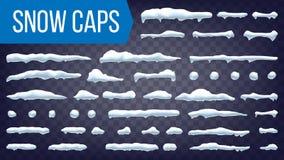 Śniegu Dryftowy wektor Zimy dekoraci element Realistyczny Snowdrift Sezonowy opadu śniegu tło button ręce s push odizolowana pocz ilustracja wektor