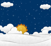 Śniegu i chmury niebo Obrazy Stock