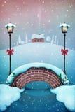 Śniegu most royalty ilustracja