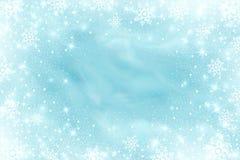 Śniegu mrozowy skutek Abstrakcjonistyczni jaskrawi biali shimmer światła, płatki śniegu i Rozjarzona miecielica Rozpraszam spada  royalty ilustracja