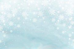 Śniegu mrozowy skutek Abstrakcjonistyczni jaskrawi biali shimmer światła, płatki śniegu i Rozjarzona miecielica Rozpraszam spada  ilustracji