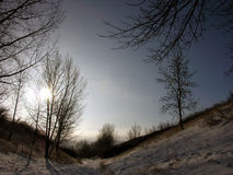 śniegurek krajobrazu obrazy royalty free