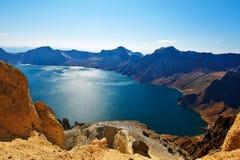 Śpiąca Changbai góry basenu niebiańska sceneria Fotografia Stock