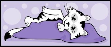 Śpiąca Kiciunia Royalty Ilustracja
