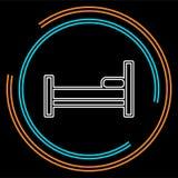 Śpi ikonę, sypialny łóżko, hotelu znak, hotelowa ikona ilustracji