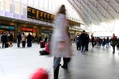 Śpieszyć się dla pociągu Zdjęcia Royalty Free