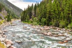 Śpieszyć się wody Gallatin rzeka zdjęcie royalty free