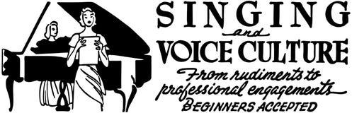 Śpiewać I głosu kultura Obrazy Royalty Free