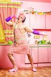 Śpiewać na kuchni Obraz Stock