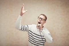 Śpiewać z passhion zdjęcie royalty free