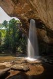 Śpiewał Chan siklawy blask księżyca siklawę przy Pha Taem parkiem narodowym, Ubon Ratchathani prowincja, Tajlandia zdjęcia stock