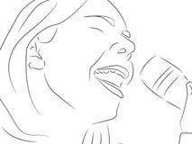 śpiewa piosenkę Fotografia Royalty Free
