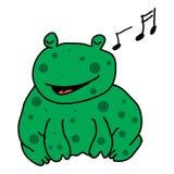 Śpiewacka żaba Obrazy Royalty Free