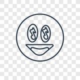 Śpiewacki pojęcie wektorowa liniowa ikona odizolowywająca na przejrzystym backg ilustracja wektor