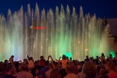 Śpiewackie fontanny na majdanu Nezalezhnosti niezależności S dalej Obraz Royalty Free