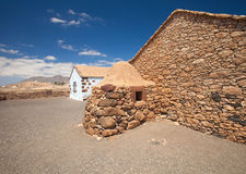 Śródlądowy Fuerteventura, na wolnym powietrzu Ecumuseo muzealny los angeles Alcogida Obrazy Stock