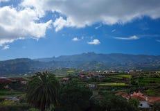 Śródlądowy Gran Canaria, widok w kierunku środkowych gór fotografia stock