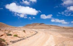 Śródlądowy Północny Fuerteventura Fotografia Stock