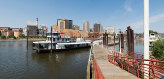 Śródmieścia St Paul i rzeka mississippi Zdjęcia Royalty Free