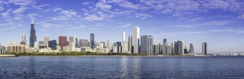 Śródmieście Chicagowska ranek panorama fotografia royalty free