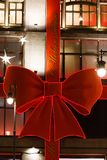 Śródmieście dekorujący i iluminujący dla wakacji Fotografia Stock